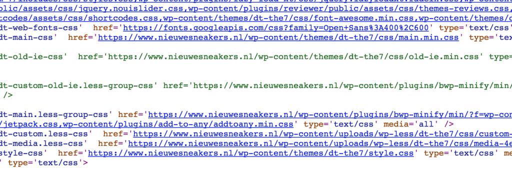 screenshot nieuwe sneakers broncode